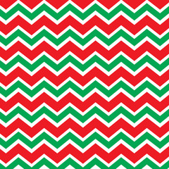 Chevron pattern in red and green