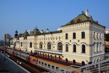 Train station in the city of Vladivostok, Russia