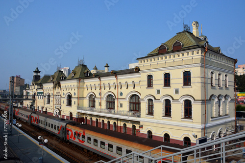 Foto op Canvas Treinstation Train station in the city of Vladivostok, Russia