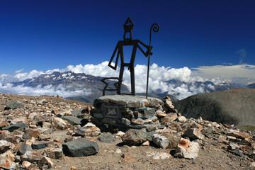 Statut de Saint Eloi au sommet du Taillefer, alt 2857 m