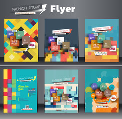 Set of Fahion Shopping Center Flyer Template