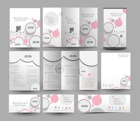 Beauty Care & Salon Stationery Set Template