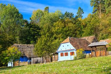 Transylvanian houses,Astra Ethnographic Museum in Sibiu,Romania