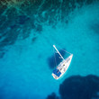 amazing view to boat, clear water - caribbean paradise