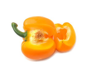 Bell pepper, white background