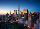 New York city - sunrise over central park and Manhattan - 71207080
