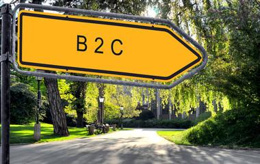 Strassenschild 25 - B2C