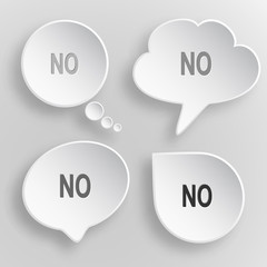No. White flat vector buttons on gray background.