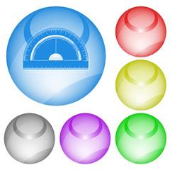 Protractor. Vector interface element.