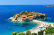 Leinwandbild Motiv Sveti Stefan island in Budva, Montenegro