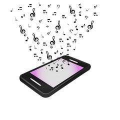 Mobile music phone vector illustration
