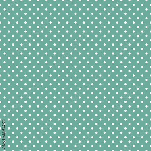 Polka dots on mint green background - 71209011