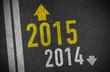 Asphalt mit 2015 und 2014