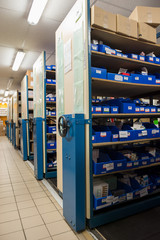 Medicine in the shelves in hospital pharmacy