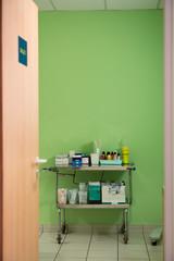 Medicine trolley in hospital