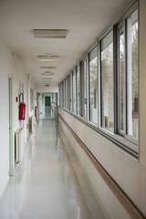 Interior of hospital corridor