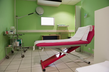 Medical examination room in hospital