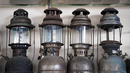Four old lamp