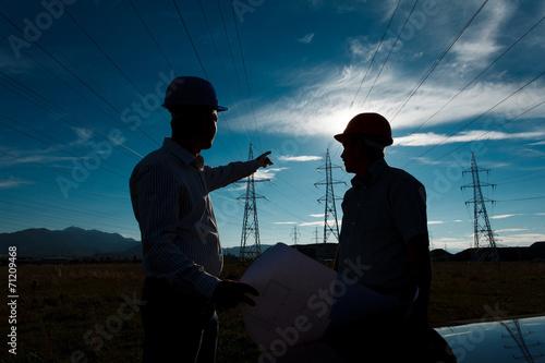 engineers discussing plan