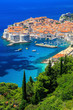 canvas print picture - The walled city of Dubrovnik, Croatia