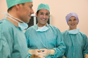 Surgeons in an operating room