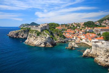 Medieval fortresses, Lovrijenac and Bokar, Dubrovnik Croatia