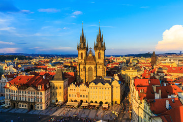 Old Town & Tyn Cathedral, Prague Czech Republic