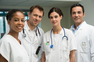 Portrait of a medical team smiling