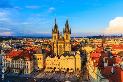 Foto op Canvas Praag Old Town & Tyn Cathedral, Prague Czech Republic