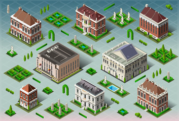 Isometric Historic American Building