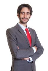 Sympathischer Mann mit Anzug und Bart