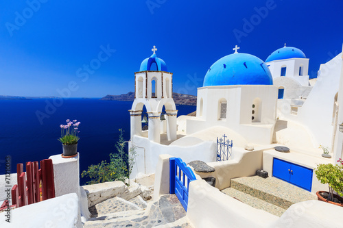 Fototapety, obrazy : The village of Oia in Santorini, Greece