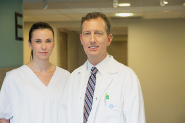 Portrait of a male and female doctor