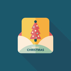 Christmas card flat icon with long shadow,eps10