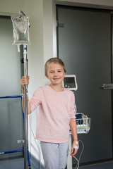 Portrait of a girl patient smiling in hospital