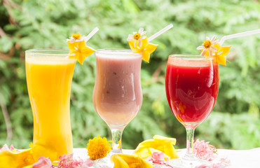 Colorful of fruit juice