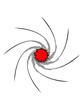 Wirbel Loch Spirale Linien Muster