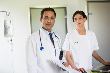 Portrait of a doctor and nurse working in hospital