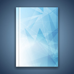 Triangular structure concept folder template