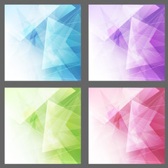 Triangle structure backgrounds set templates