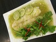spicy steamed fish in lemon sauce
