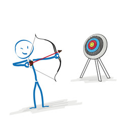 Stickman Target Bow