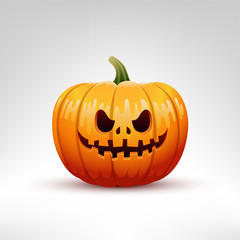 Halloween Pumpkin vector illustration isolated