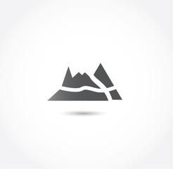 mountain path icon