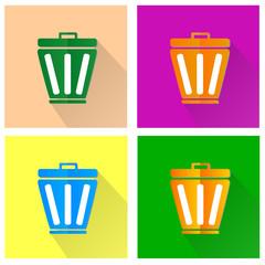 Trash bin symbol - Vector