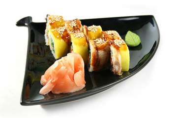 Sushi rill with eel and crab
