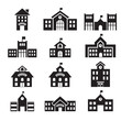 school building icon - 71214814