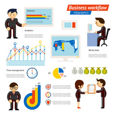 Business Infographic Workflow Illustration