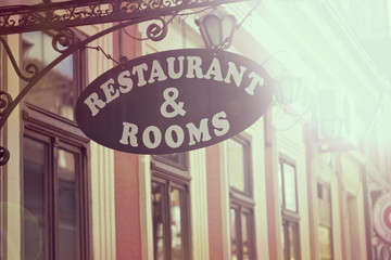 Restaurant signboard