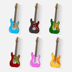 Vector guitars icon